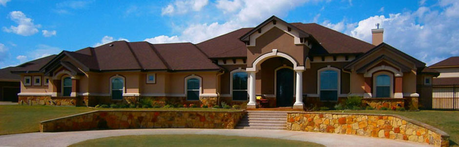 Elevations central texas designs for Custom home blueprints
